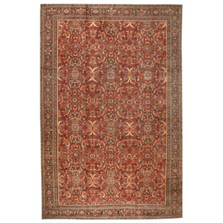 Antique Oversize Persian Sultanabad Carpet