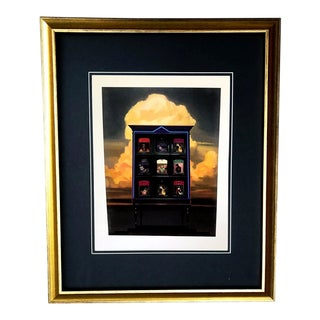 Framed Gucci Eclectic China Cabinet Shirt Illustration Art For Sale