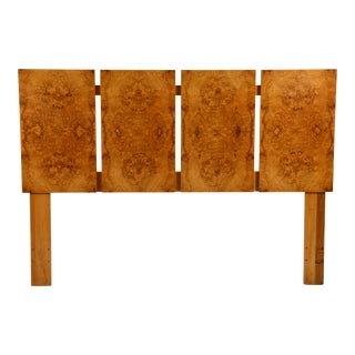 Minimalist Burl Wood Queen Size Headboard by Lane For Sale