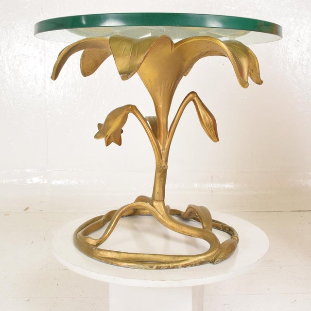 Hollywood Regency Side Aluminum Table by Arthur Court, Gilded Lily For Sale In San Diego - Image 6 of 10