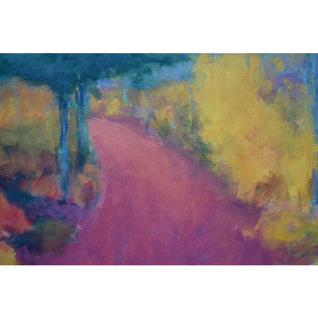 "2010s ""Turning"" Trail in Autumn Acrylic Painting by Stephen Remick For Sale - Image 5 of 13"
