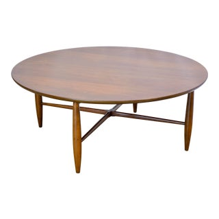 1950s Mid Century Modern Morganton Furniture Co Round Coffee Table For Sale