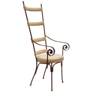 Italian Gilt Metal Mid-Century Chair For Sale
