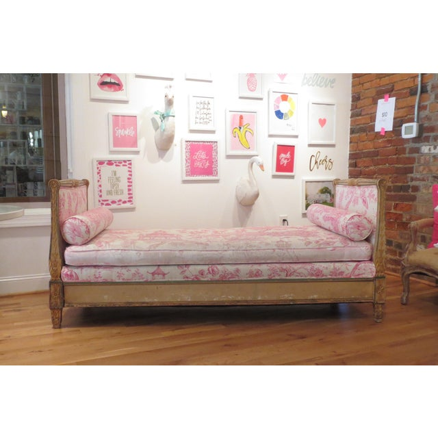 Antique Daybed/Fainting Sofa For Sale - Image 11 of 11