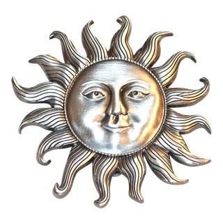 Silver Pewter Sunshine Door Knocker For Sale