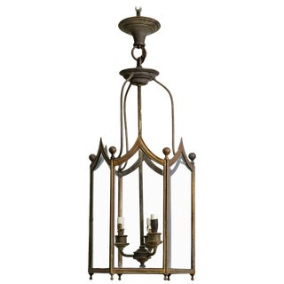 Brass Lantern, 1930s For Sale