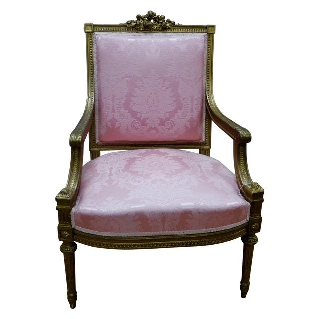 French Louis XVI Arm Chair - Image 1 of 4