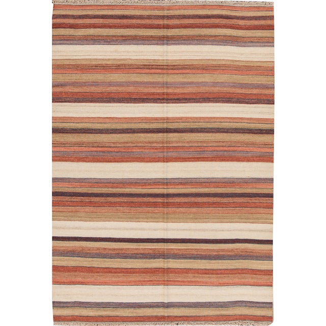 "Apadana - Modern Kilim Rug, 5'8"" x 8'1"" For Sale"