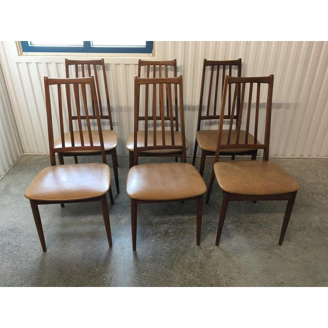 Scandinavian Hornslet Hgih Back Dining Chairs - Set of 6 For Sale In Charleston - Image 6 of 6