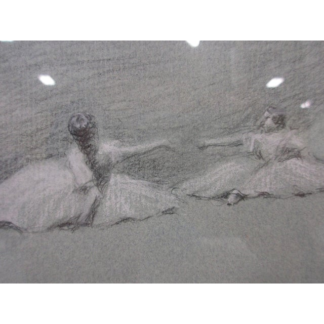 Charcoal Ballet Sketch by A. Von Munchhausen - Image 6 of 10