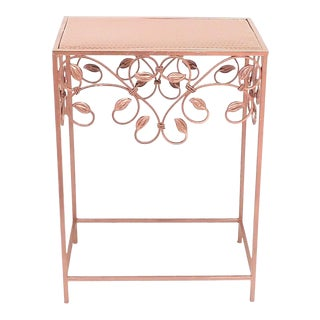 French Style Painted Copper Entryway/Sofa Table For Sale