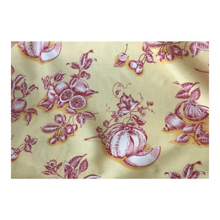 Tyler Hall French Market Exclusive Yellow Fabric With Orange Design - 1 Yard For Sale