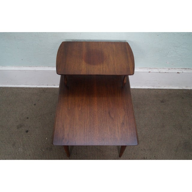 Bassett Mid Century Modern 2 Tier Step End Tables - a Pair For Sale In Philadelphia - Image 6 of 10