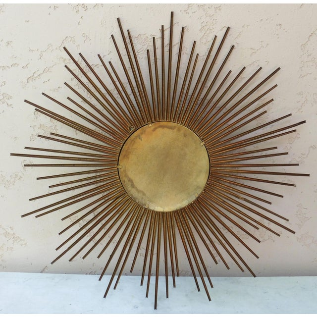 Chaty Vallauris Sunburst Convex Metal Mirror - Image 3 of 4