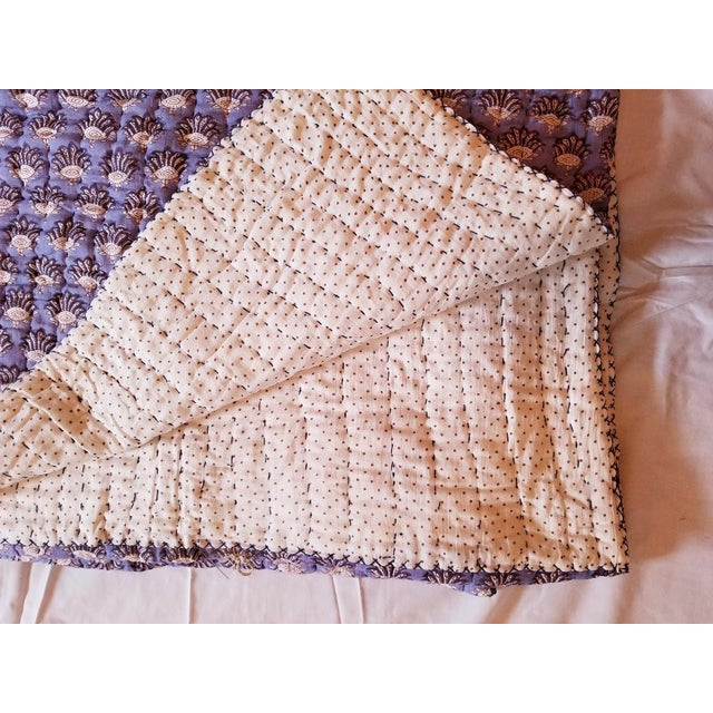 Boho Chic Boho Chic Roberta Roller Rabbit Twin Purple Quilt For Sale - Image 3 of 7