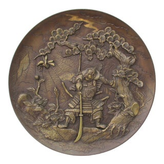 Japanese Meiji Bronze Charger For Sale