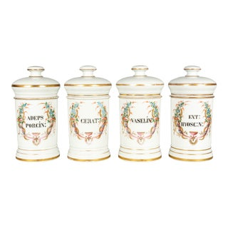 19th Century French Apothecary Jars - Set of 4 For Sale