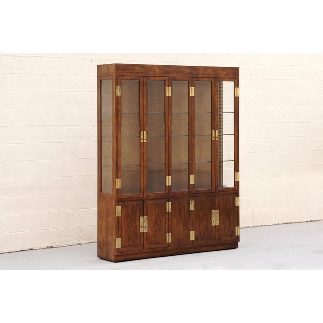"""1970s """"Campaign Series"""" Modern China Cabinet by Henredon For Sale - Image 10 of 10"""