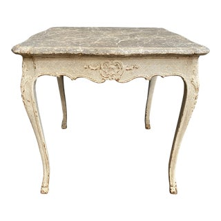 Louis XV Faux Marble Top Center Table For Sale