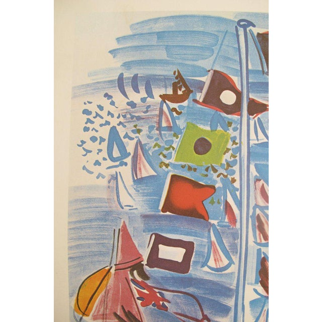 French 1954 Raoul Dufy Exhibition Poster, Honfleur Harbour Scene For Sale - Image 3 of 5