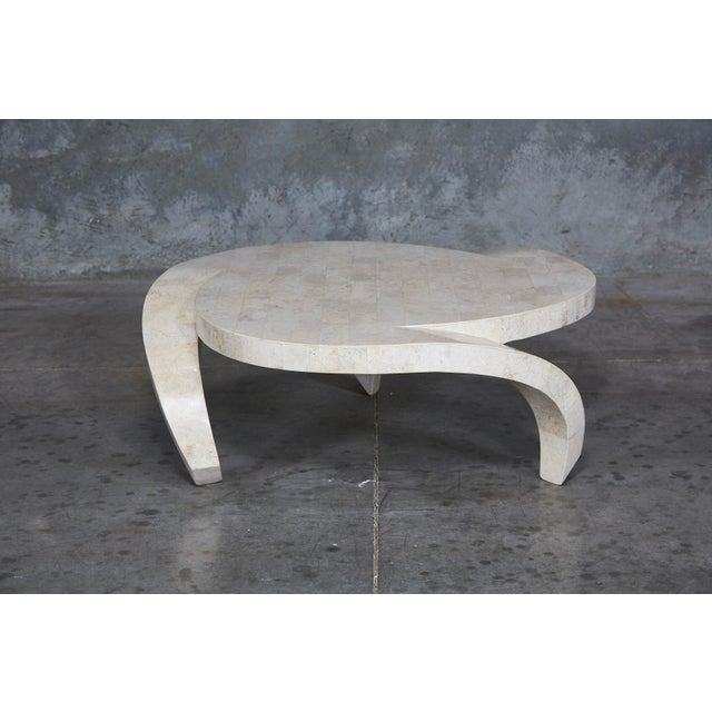 """1990s Post-Modern Tessellated Cantor Stone """"Hurricane"""" Coffee Table For Sale - Image 10 of 10"""