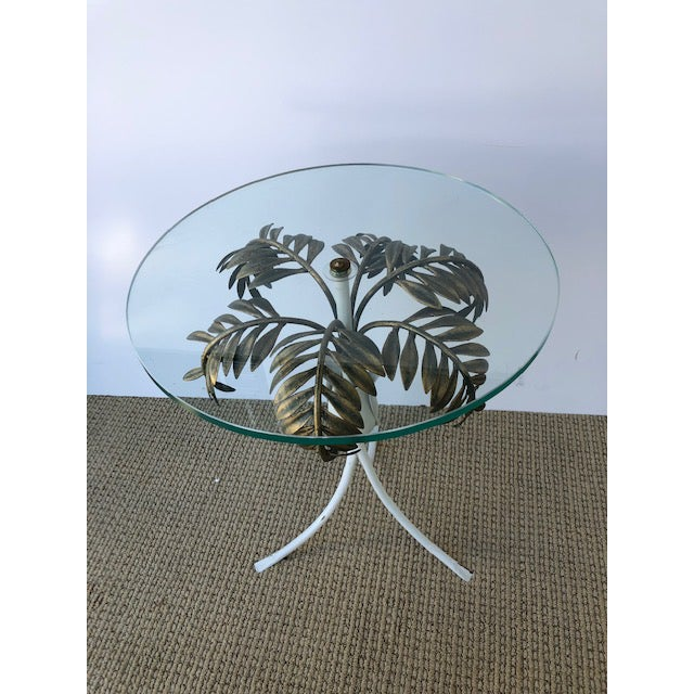Tony Duquette 1960s Hollywood Regency Palm Tree Side Table For Sale - Image 4 of 8