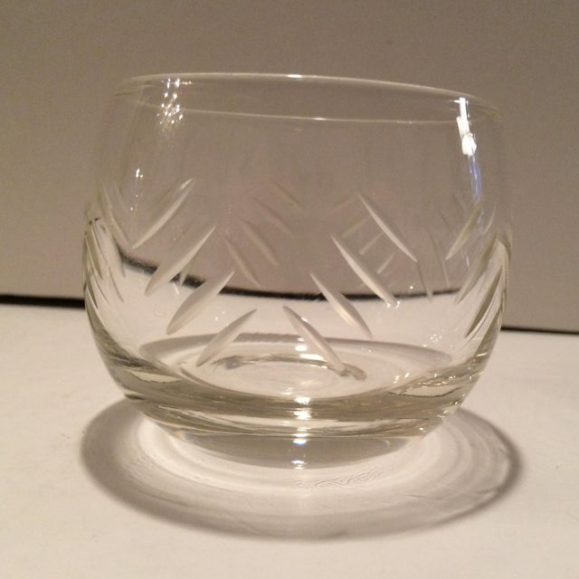 1930's Cut Crystal Roly Poly Glasses - Set of 7 For Sale - Image 5 of 11