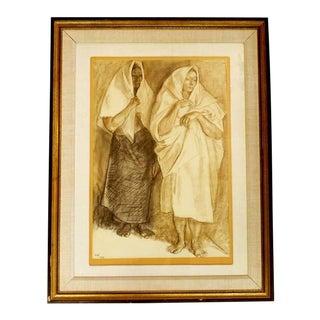 Original Francisco Zuniga Framed Artwork For Sale