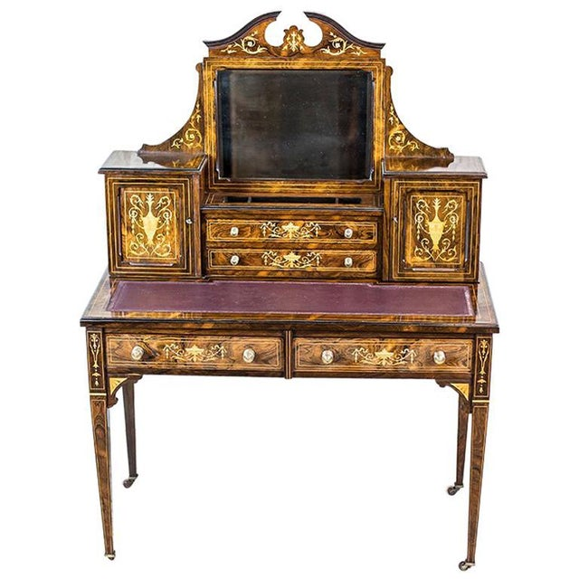 19th Century Lady's Desk Veneered with Rosewood For Sale - Image 13 of 13