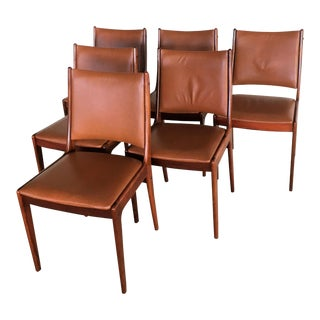 1960s Mid-Century Modern Johannes Andersen Rosewood Dining Chairs - Set of 6 For Sale