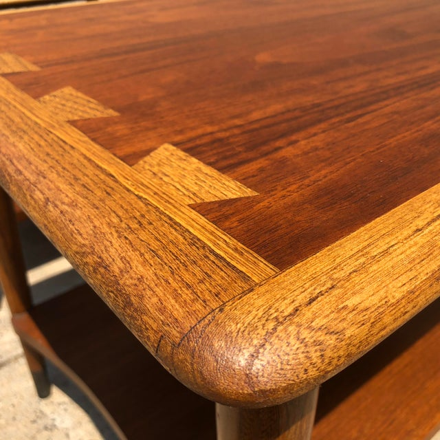 Lane Furniture 1950s Mid-Century Modern Lane Furniture Acclaim Dovetail End Tables - a Pair For Sale - Image 4 of 9
