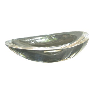 Vintage Steuben Ted Muehling Seed Pod Crystal Clear Trinket Dish Made in Germany For Sale
