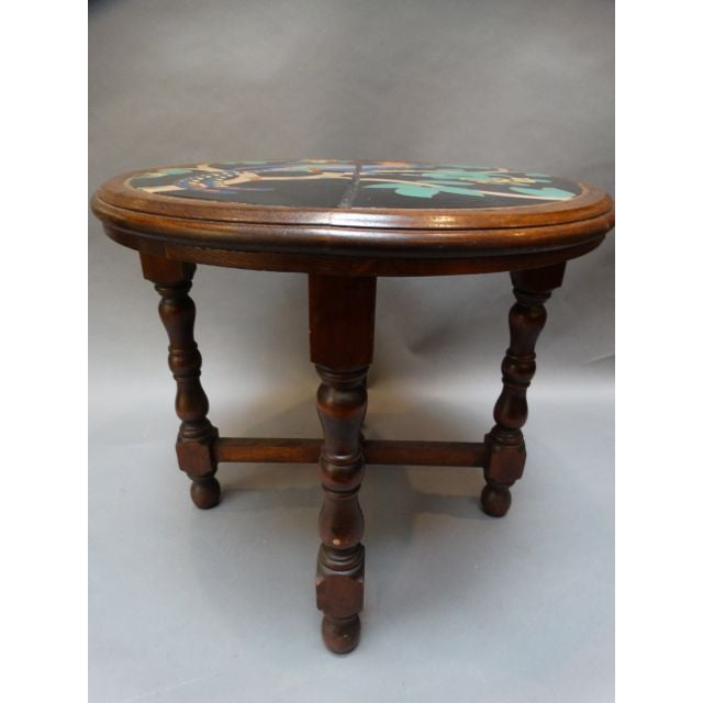 Pheasant Pond Round Taylor Tile Table - Image 2 of 5