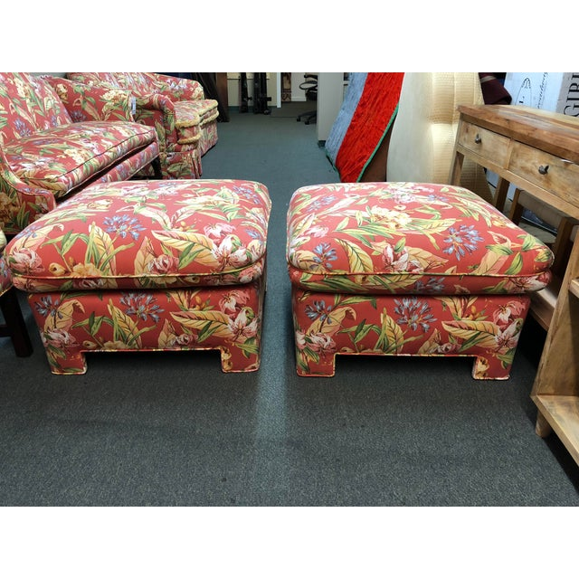 Marge Carson Ottomans - A Pair - Image 2 of 12