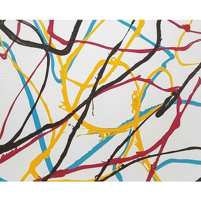 """Abstract Dana Gordon """"East River Refrain"""", Painting For Sale - Image 3 of 4"""