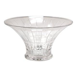 Modern Orrefors Circular Glass Bowl For Sale
