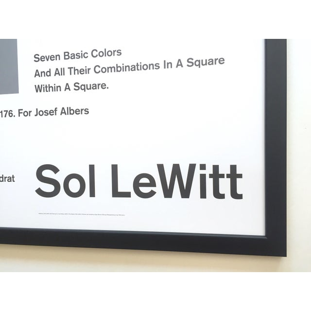Sol LeWitt Lithograph Print Josef Albers Museum Framed Minimalist Exhibition Poster For Sale - Image 12 of 13