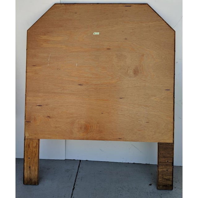 Brown Carved Faux Bamboo Twin Headboards, a Pair - Taiwan For Sale - Image 8 of 10