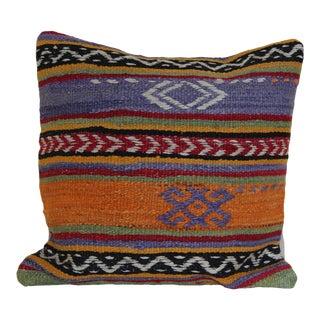 1970s Boho Chic Kilim Pillow Cover – 16x16