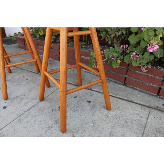 1970s Arthur Umanoff Mid Century Set 0f 4 Bar Stools For Sale - Image 5 of 9