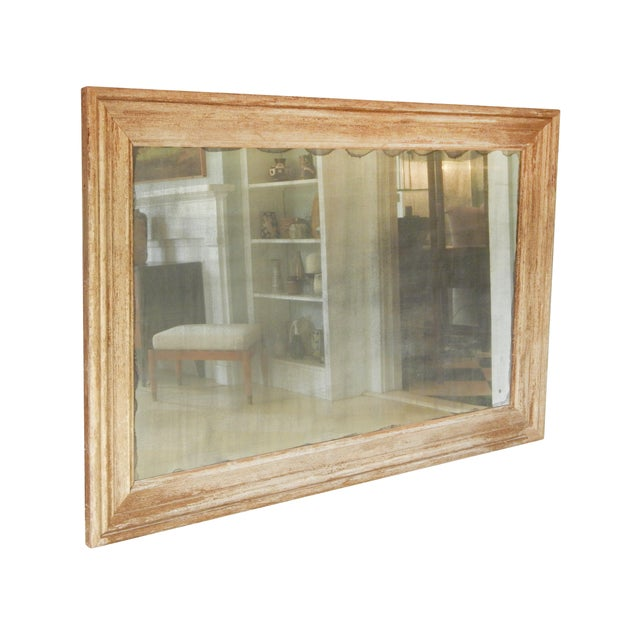 Shabby Chic Large Distressed Wood Frame Mirror For Sale - Image 3 of 6