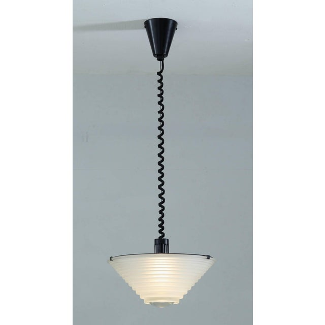 "Italian 1979 Vintage Angelo Mangiarotti for Artemide Italia ""Egina"" Pendant For Sale - Image 3 of 6"