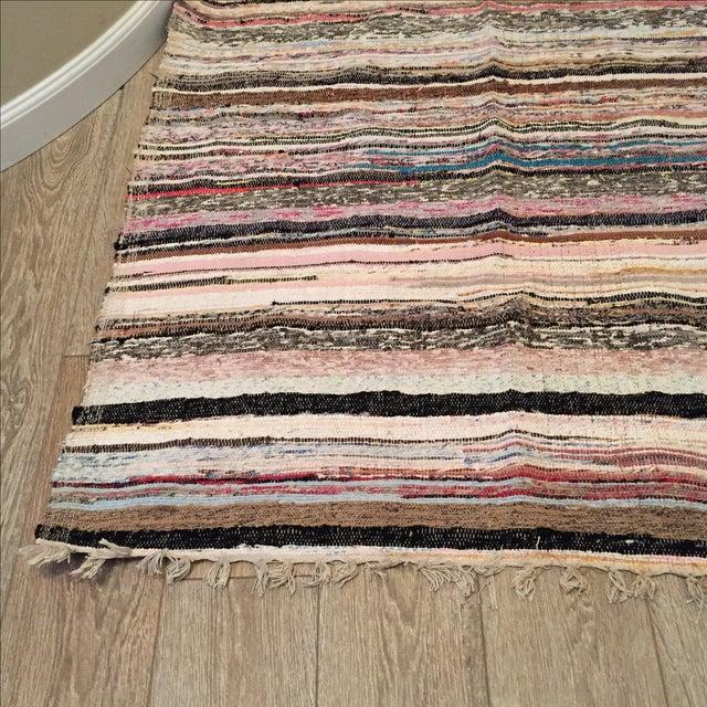 "Striped Turkish Rag Rug Runner- 10'3"" X 3'2"" - Image 4 of 10"