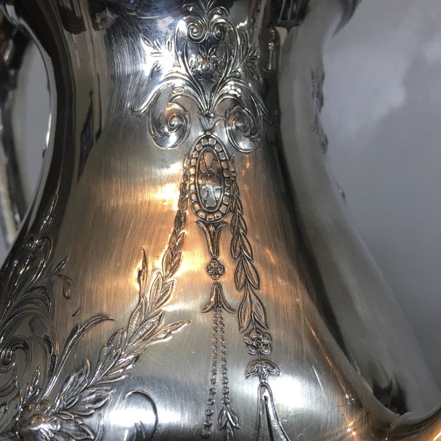 1930s Traditional Wilcox Hand Chased Silver Plated Coffee Pot For Sale - Image 11 of 13