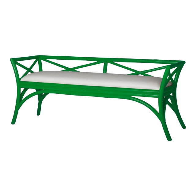 Charlotte Bench - Bright Green For Sale