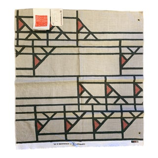 1960s Vintage Schumacher & Co Frank Lloyd Wright Fabric For Sale
