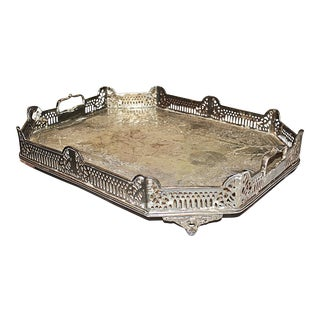 Silverplate Serving Tray For Sale
