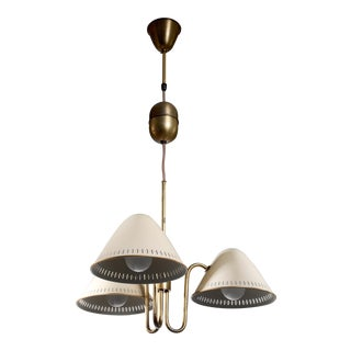 Asea Three-Arm Chandelier, Sweden, 1940s For Sale