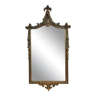 Antique Hollywood Regency Carved Mirror For Sale