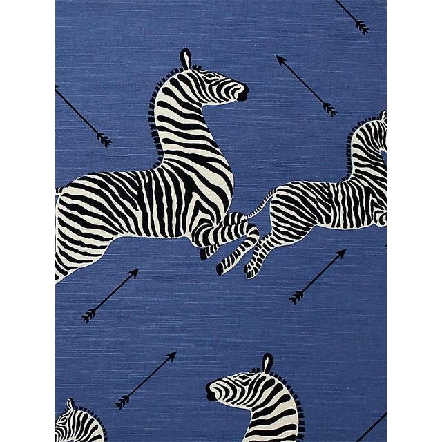 Safari Scalamandre Zebras - Outdoor, Denim Fabric For Sale - Image 3 of 3